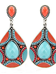 Europe and the United States selling Earrings American jewelry beads Drop Earrings 0438# pattern resin