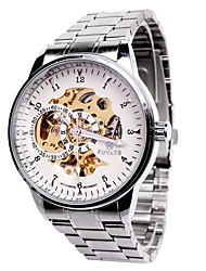 Men 's Watches Wholesale Fashion Double - Circle Hollow Automatic Mechanical Watch Steel Men' s High - End Casual Watches