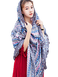 Women Shawl Floral Silk Scarf
