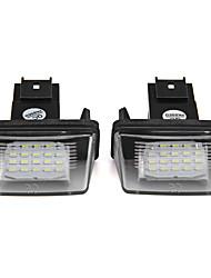 2pcs яркие светодиодные номерной знак света для Peugeot 207 306 206 307 406 407 Citroen C3 C3 II c3