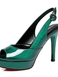Tacón Stiletto-Zapatos del club-Sandalias-Oficina y Trabajo Fiesta y Noche Vestido-PU-Negro Rosa