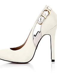 Women's Heels Spring Fall Comfort Silk Wedding Party & Evening Dress Stiletto Heel Buckle Ivory