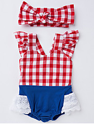 Baby Girl Casual/Daily Striped Clothing Set,Stripes Summer Spring Fall