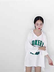 знак малайзийских ринггитов ~ ~ осень корейская рыхлый большая версия удобная с капюшоном длинный участок 7 очков рукав футболки женщин
