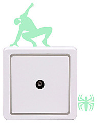 Noctilucent Carved Wall Stickers Noctilucent Stick The Sitting Room The Bedroom Toilet Switch
