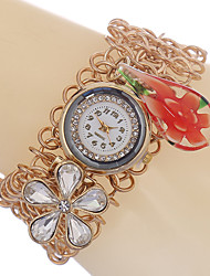 Armband-Uhr Quartz Legierung Band Gold