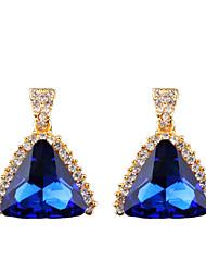 The Temperament Of Geometric Fashion In Europe And America Big Diamond Earrings