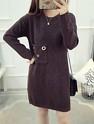 определить реальный выстрел женский корейский карман ангора свитер хеджирование круглый свитер шеи пальто куртка рубашку
