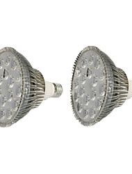 18w e26 / e27 led grow lumières 1620-1800 lm rouge + bleu ac85-265 v 2 pcs