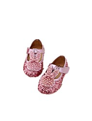 Baby Flats First Walkers Fabric Spring Fall Casual Outdoor Walking First Walkers Sequin Magic Tape Low Heel Gold Fuchsia Flat