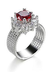 Love Crystal Austrian Rhinestone Wedding Finger Ring for Women Fashion Jewelry