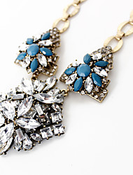 Women's Pendant Necklaces Jewelry Jewelry Gemstone Alloy Acrylic Diamond Pendant Personalized Euramerican European Red Light Blue Jewelry