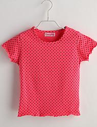 Baby T-Shirt,Lässig/Alltäglich Punkte-Baumwolle-Sommer-Rot