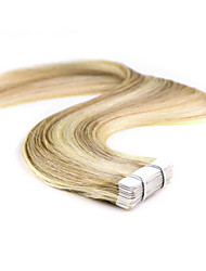 Neitsi 16'' 20Pcs 30g Skin Weft 100% 5A Grade Tape in Remy Human Hair Extensions Highlight Colour