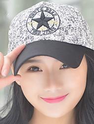 pentagonale impression étoile casquette de baseball soleil femmes printemps broderie d'été chapeau en plein air