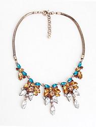Women's Statement Necklaces Jewelry Jewelry Gemstone Gem Alloy Flower Style Fashion Personalized Euramerican Luxury European Jewelry For