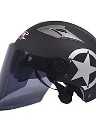 GXT motocicleta M11 medio casco de doble lente de casco protector solar Harley unisex verano adecuado para 55-61cm con lente de espejo
