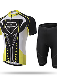 XINTOWN® Super Men Cycling Jersey Bicycle Bike Cycle Short Sleeve Jersey Jacket Comfortable Breathable Shirts Tops Padded Shorts