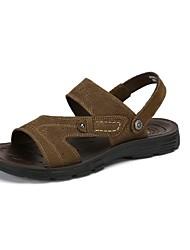 Masculino-Sandálias-Conforto-RasteiroPele-Casual
