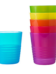 6pcs KALAS Rainbow Colorful Mug Sweden Plastic Cup Set for Party Travel Outdoor Kid
