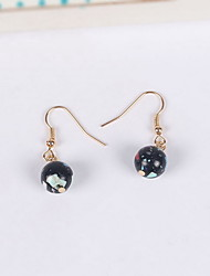 Non Stone Drop Earrings Earrings Set Jewelry Daily Casual Alloy Resin 1 pair Black Pink