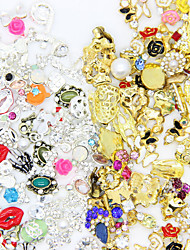 50pcs High Quality Random Mix of Manicure Alloy Jewelry