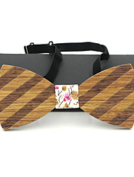 Men Party Work Casual Bow Tie,Acrylic Solid,Brown All Seasons