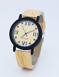 Fashion Watch Quartz Leather Band Casual Brown