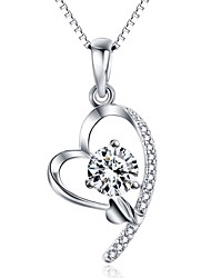 Pendants Heart Sterling Silver Imitation Diamond Basic Love Heart Luxury Jewelry For Daily Casual 1pc