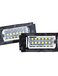 2 x branco 18 número de LED da placa de licença lâmpada luzes lâmpada para BMW MINI R56