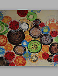 IARTS Modern Abstract Paintings Color Round B Wall Art For Home Decor Stretchered Ready To Hang