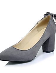 Damen-High Heels-Büro Lässig Kleid-VliesAndere-Schwarz Grau