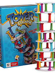 Tower Of Pisa Parent-child Interactive Toy Educational Toy  Jenga Leisure Hobby Toys Novelty Cylindrical Plastic Rainbow For Boys For Girls