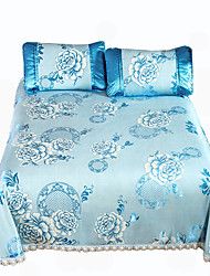 Yuxin®Printed Ice Silk Mats  Summer Cool Air Conditioning Mats  Three Sets  Ice Mats*1 Pillowcase*2  Bedding Set