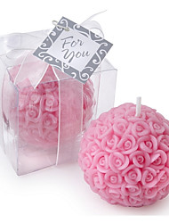 Rose Ball Candle Favor (6.5 x 6.5 x 6.5 cm/box) Red or Pink Color Beter Gifts® Wedding Gifts
