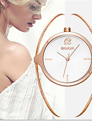 Montre Tendance Quartz Alliage Bande Charme Luxe Or Rose Blanc Or Rose
