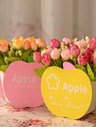 1 Branch Plastic Artificial Flowers (Random Color)