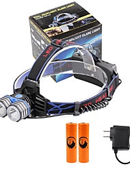 U'King® ZQ-X838B#5-US 2*CREE XML-T6 4000LM LED 3Modes Headlamp Bicycle Lamp Kit Emergency Charging for your Mobile Devices