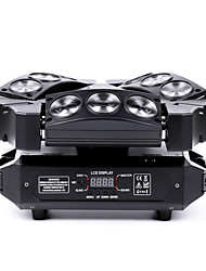 U'King® Mini 9 Head Bird Moving Head Stage Effect Light 9*3W RGB LEDs DMX512 and Sound Active 1pcs