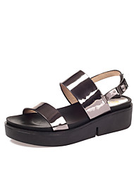 Women's Sandals Summer Slingback Creepers Comfort Patent Leather Wedding Outdoor Office & Career Party & Evening Dress CasualWedge Heel