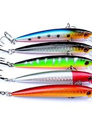 """5 Stück Harte Fischköder kleiner Fisch Harte Fischköder kleiner Fisch Verschiedene Farben 6 g/1/4 Unze,90 mm/3-1/2"""" Zoll,Fester Kunststoff"""