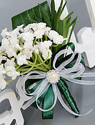Bouquets de Noiva Redondo Rosas Lavanda Alfinetes de Lapela Casamento Festa / noite Poliéster Cetim Seda Organza
