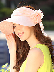 Women's Simple Cotton Blend Yarn Visor Sun Empty Top Hat Beach Hat Floral Casual Holiday Summer