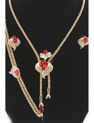 Bijoux 1 Collier 1 Paire de Boucles d'Oreille 1 Bracelet 1 Bague Bague Boucles d'oreilles Collier / Bracelet CristalCirculaire Original A