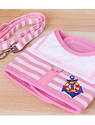 Harness Leash Adjustable/Retractable Stripe Fabric