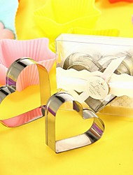 2pcs/box Heart Shaped Metal Cookie Cutter Set Bridal Shower Favor Beter Gifts® Baby Gifts