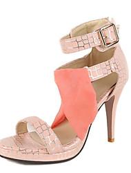 Mariage Habillé Décontracté-Bleu Rose Rouge Blanc Beige-Talon Aiguille-Confort Nouveauté club de Chaussures-Sandales-Matières