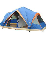 5-8 человек Световой тент Двойная Семейные палатки Трехкомнатная Палатка ПолиэстерВодонепроницаемый Воздухопроницаемость