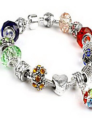 Chain Bracelet Crystal Crystal Natural Jewelry Red Green Blue Pink Light Blue Jewelry 1pc