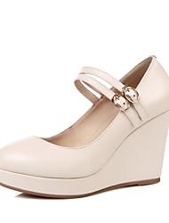 Damen-High Heels-Kleid-Leder-Keilabsatz-Andere